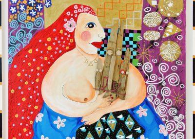 Déesse Tiamat Toile, acrylique 1m20x1m20